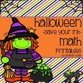 Halloween {Save Your Ink} Math Printables!