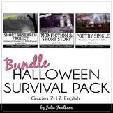 Halloween Survival Pack of NO PREP Lessons for Teens, Haun