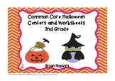 Halloween Themed 2nd Grade Reading and Math Centers and Wo