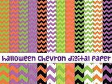Halloween chevron digital paper