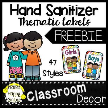 Hand Sanitizer ~ Germx Bathroom Pass Labels ~ FREEBIE