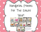 Handprint Poems For The Entire Year! End of the Year Keepsake