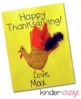 Handprint Turkey Thanksgiving Card Template