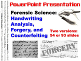 Handwriting Analysis, Forgery, & Counterfeiting PowerPoint