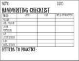 Handwriting Checklist