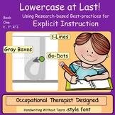 Handwriting Instruction Kindergarten, Lowercase at Last!