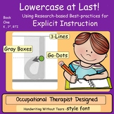 Handwriting Instruction Kindergarten, Lowercase at Last!