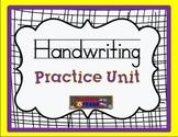Handwriting Practice Unit