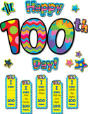 Happy 100th Day! Poppin' Patterns Classroom Bulletin Board Set