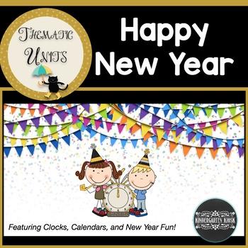New Year's Fun: Clocks & Calendar:Thematic Common Core Cur
