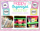 Happy Organized Teacher {Closet & Supply Labels}