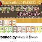 Happy Thanksgiving Banner (Freebie)