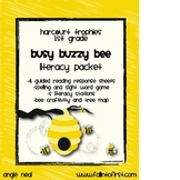 """Harcourt Trohies """"Busy Buzzy Bee"""" Literacy Packet"""
