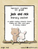"""Harcourt Trophies """"Jack and Rick"""" Literacy Packet"""
