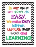 Hardwork and Learning Colorful Chevron