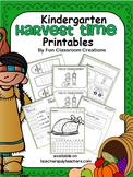 Harvest Time Kindergarten Common Core ELA and Math Activities