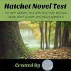 Hatchet Book Test of 88 Questions with Answers