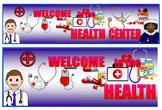 Health Center Banner, Health Center Signage, Health Center Poster