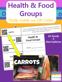 Health & Food Groups Foldable Study Guide with QR Codes {L