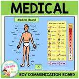 Autism Health Medical Board (BOY) Body Parts PECS ABA