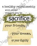Healthy Relationship Poster - bundle of mult. formats