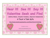 Hear it!   See it!   Say It!   Valentine Seek and Find