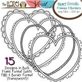 Heart Doodle Frames & Borders Set: Graphics for Teachers