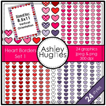 Heart Frames Set 1 {Graphics for Commercial Use}