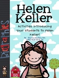 Helen Keller: Literacy Activities & Graphic Organizers Bio