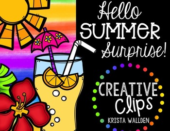 Hello Summer Surprise {Creative Clips Digital Clipart}