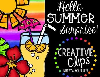 Hello Summer Surprise {Creative Clips Digital Clipart}