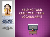 Helping your child with vocabulary at home