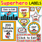 Superhero Theme Labels and Templates