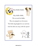 Hey Diddle Diddle Nursery Rhyme Preschool Pack