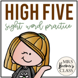 High Five! sight word, popcorn word, word of the day practice