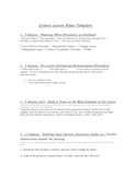 """High Performance Science Lesson Plan Template"""