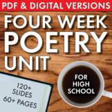 High School Poetry Unit Plan, FOUR FULL WEEKS of Dynamic,