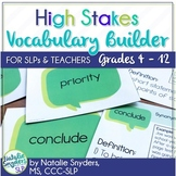 High Stakes Testing - Vocabulary Builder