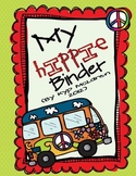 Hippie or Peace Organizational Binder