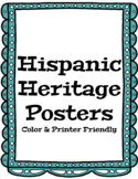 Hispanic Heritage Month Posters ! Famous Hispanic Americans