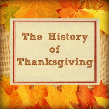 History of Thanksgiving Activity