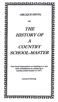 History of a Country School-Master (1811)