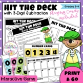 Hit the Deck - 3 Digit Subtraction (Common Core)
