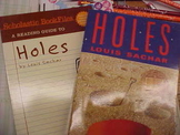 """""""Holes"""", 1 copy of the Book and 1 copy of the Reading Guide"""