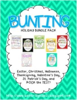 Holiday Bunting Banner Bundle
