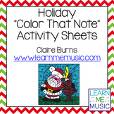 "Holiday ""Color That Note"" Activity Pages"