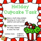 Holiday Cupcake Task - Common Core 2.NBT.B.7, 3.NBT.A.2