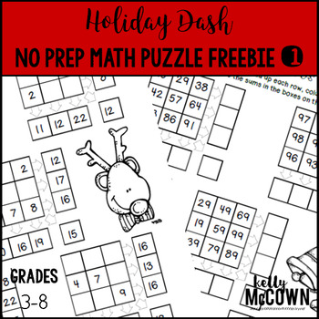 Holiday Dash FREEBIE Challenge Puzzle #1