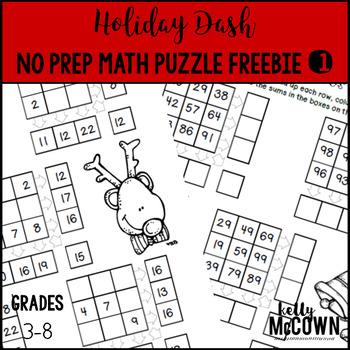 Holiday Dash FREEBIE Challenge Puzzle #1