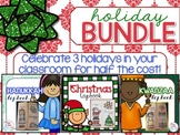 Holiday Lapbook BUNDLE { Christmas, Kwanzaa, and Hanukkah